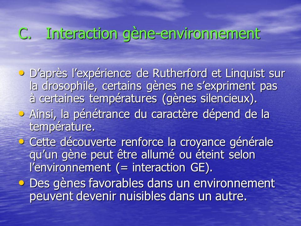 Interaction gène-environnement