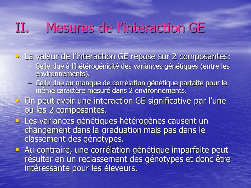 Mesures de l'interaction GE