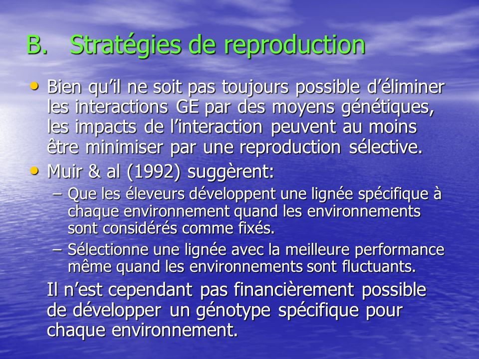 Stratégies de reproduction
