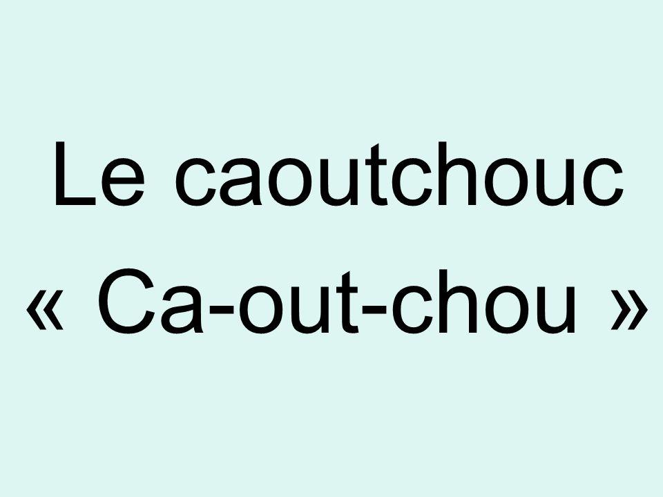 Le caoutchouc « Ca-out-chou »