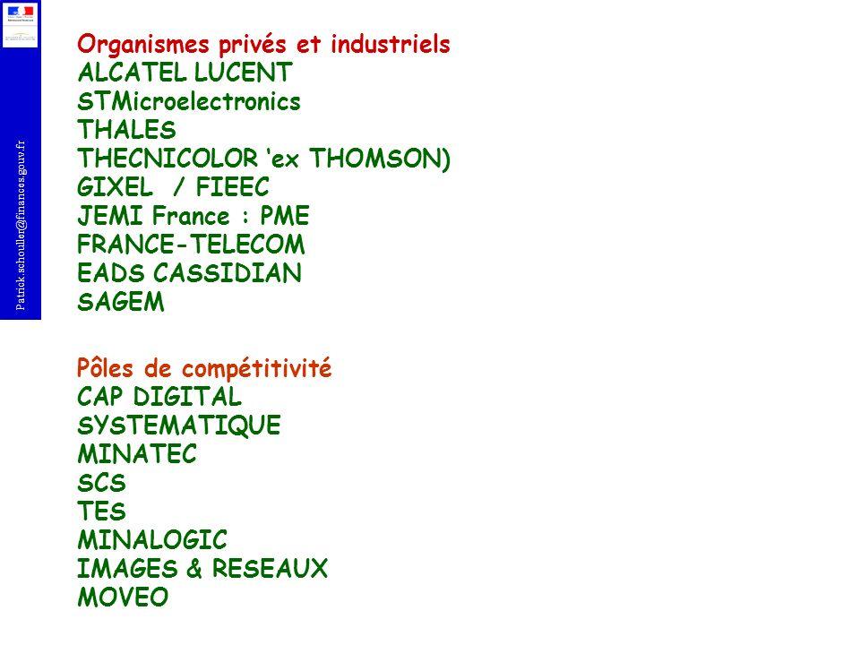 Organismes privés et industriels