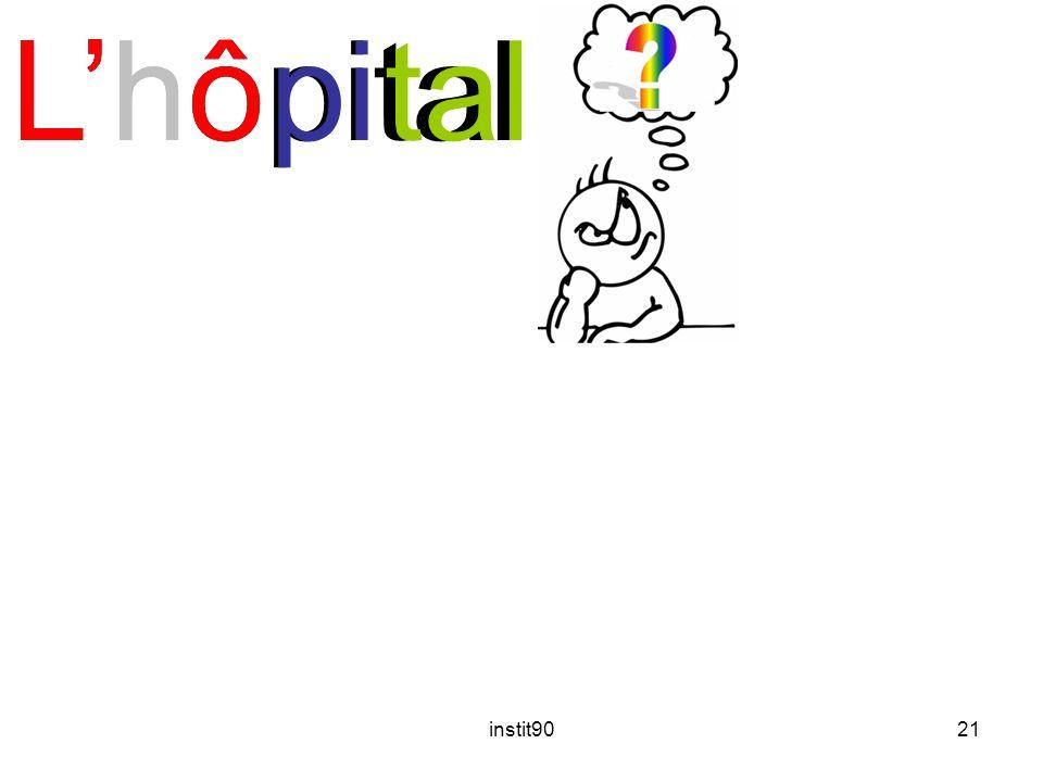 L'hôpital L'hô pi tal instit90