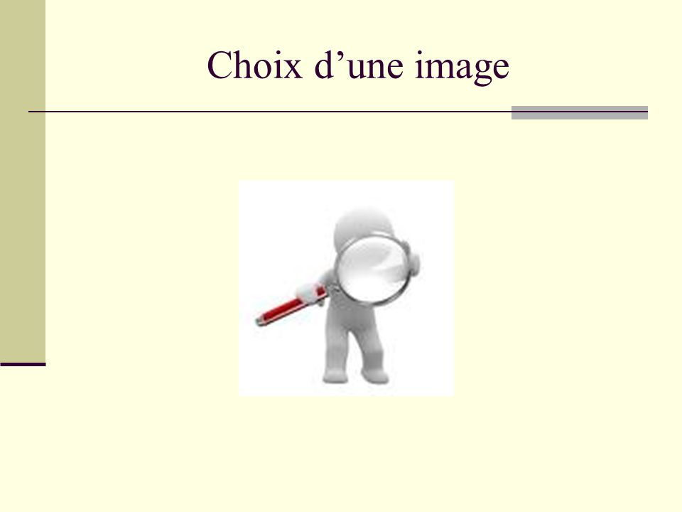 Choix d'une image