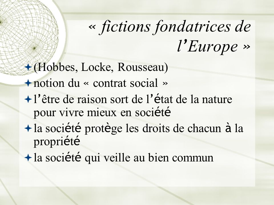 « fictions fondatrices de l'Europe »