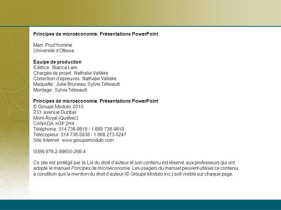 07/21/09 Principes de microéconomie. Présentations PowerPoint. Marc Prud'homme. Université d'Ottawa.