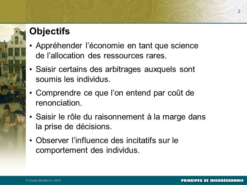 07/21/09 2. Objectifs. Appréhender l'économie en tant que science de l'allocation des ressources rares.