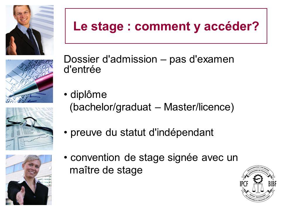 Le stage : comment y accéder