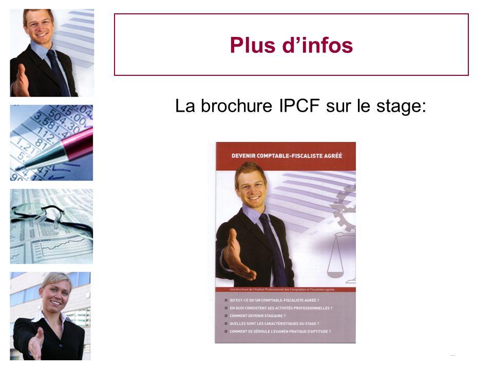 La brochure IPCF sur le stage: