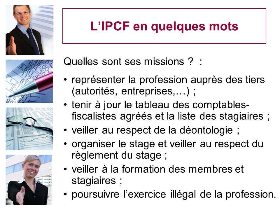L'IPCF en quelques mots