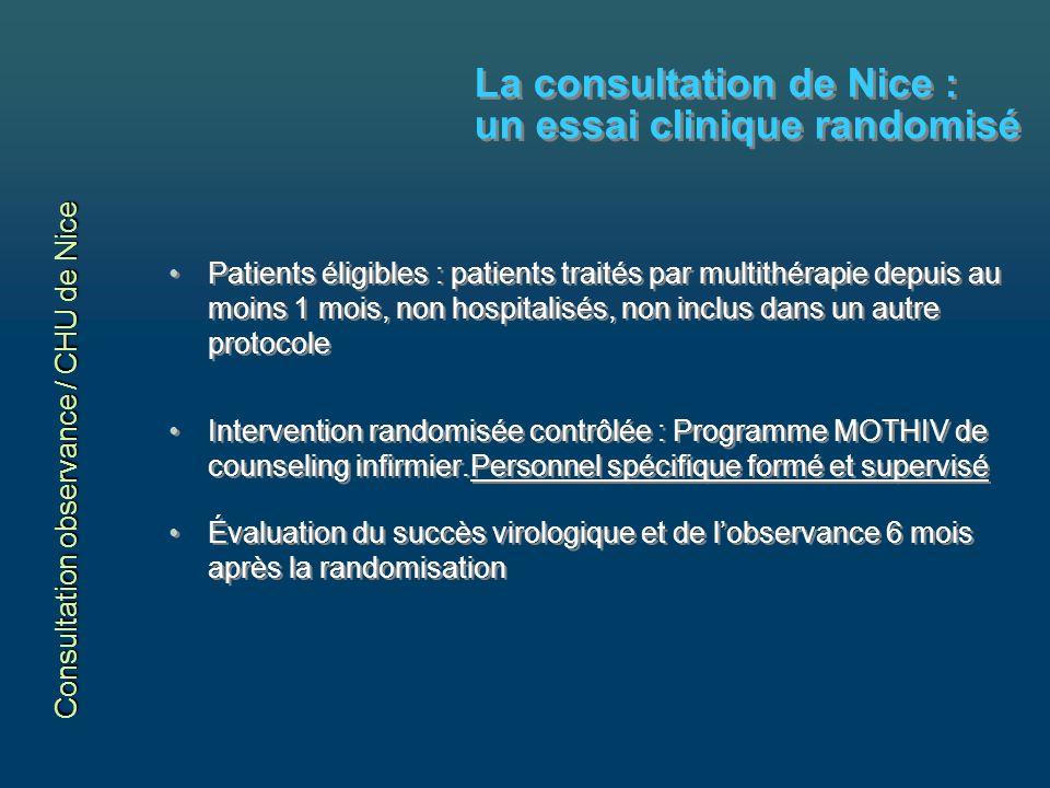La consultation de Nice : un essai clinique randomisé