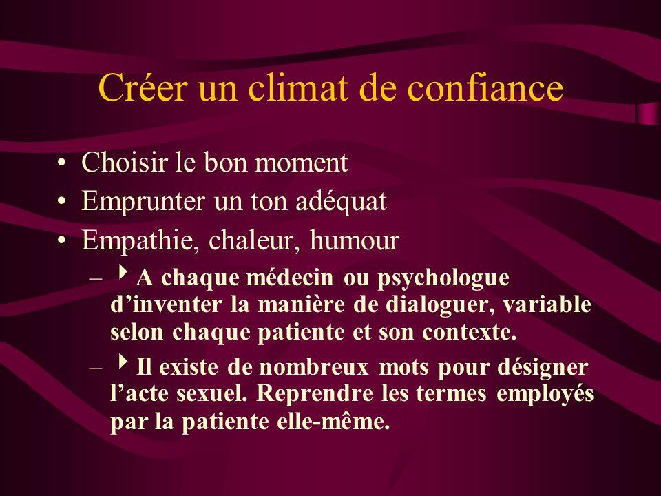 Créer un climat de confiance