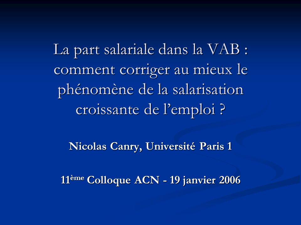 Nicolas Canry, Université Paris 1 11ème Colloque ACN - 19 janvier 2006
