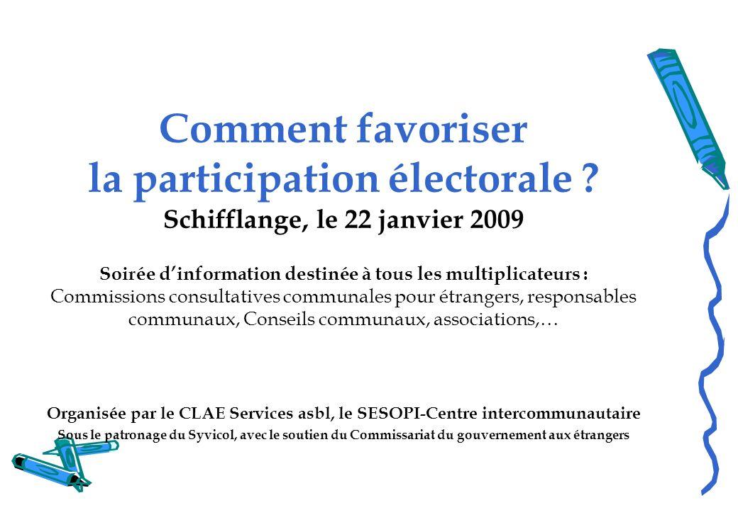 Comment favoriser la participation électorale