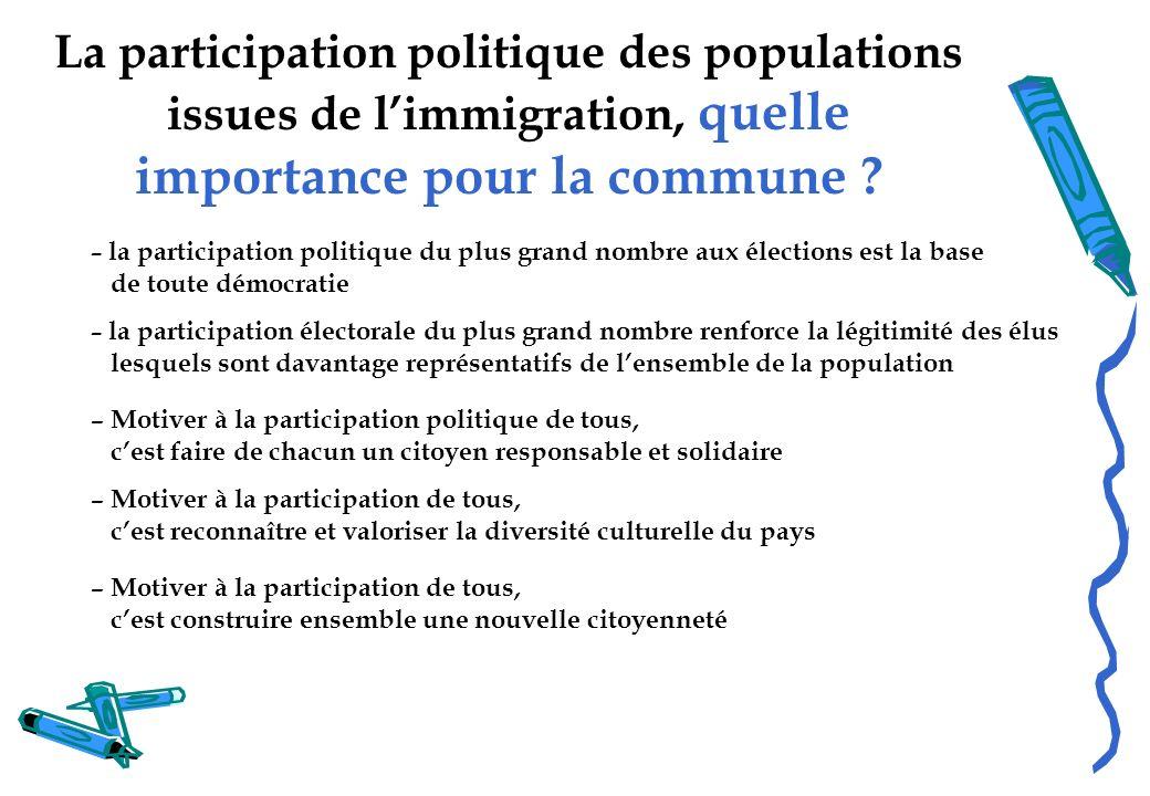 La participation politique des populations issues de l'immigration, quelle importance pour la commune