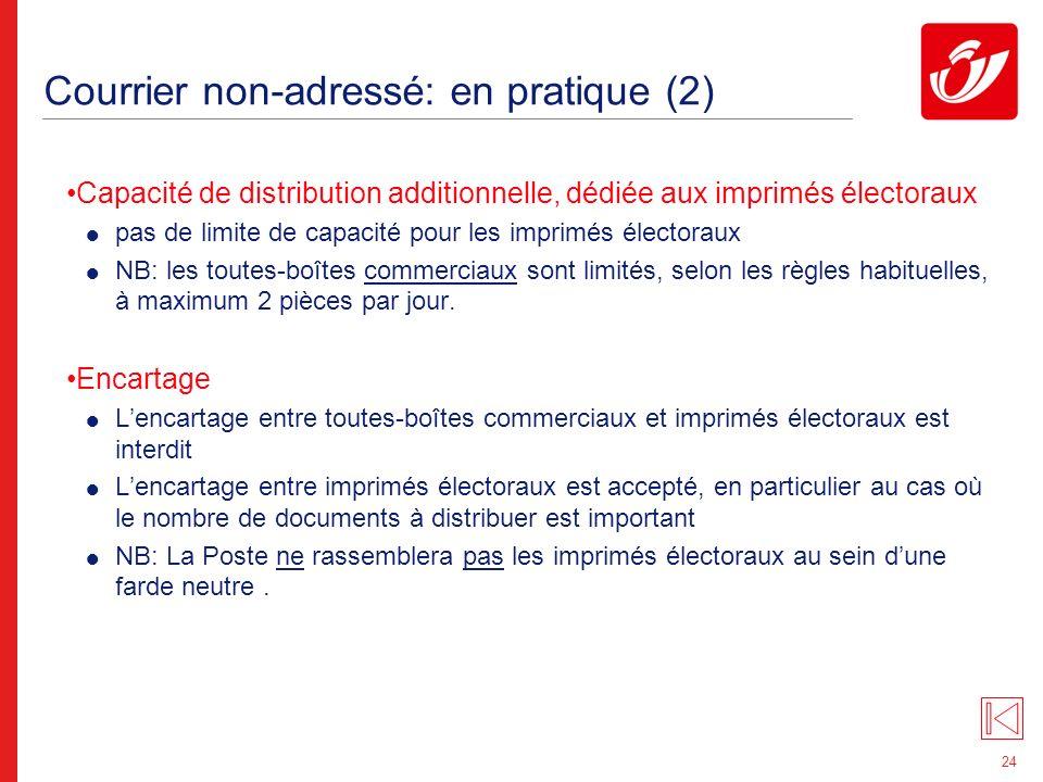 Courrier non-adressé: en pratique (3)