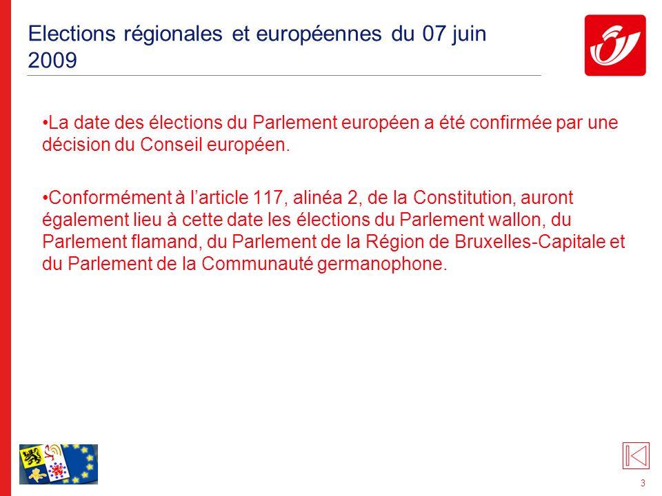 Elections régionales et européennes du 07 juin 2009: le Parlement européen