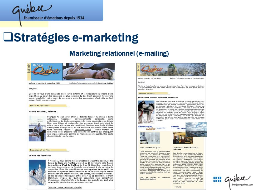Marketing relationnel (e-mailing)