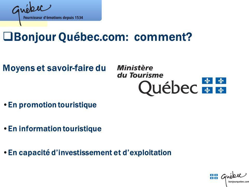 Bonjour Québec.com: comment
