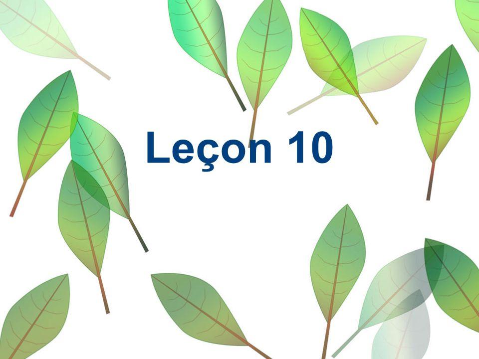 Leçon 10