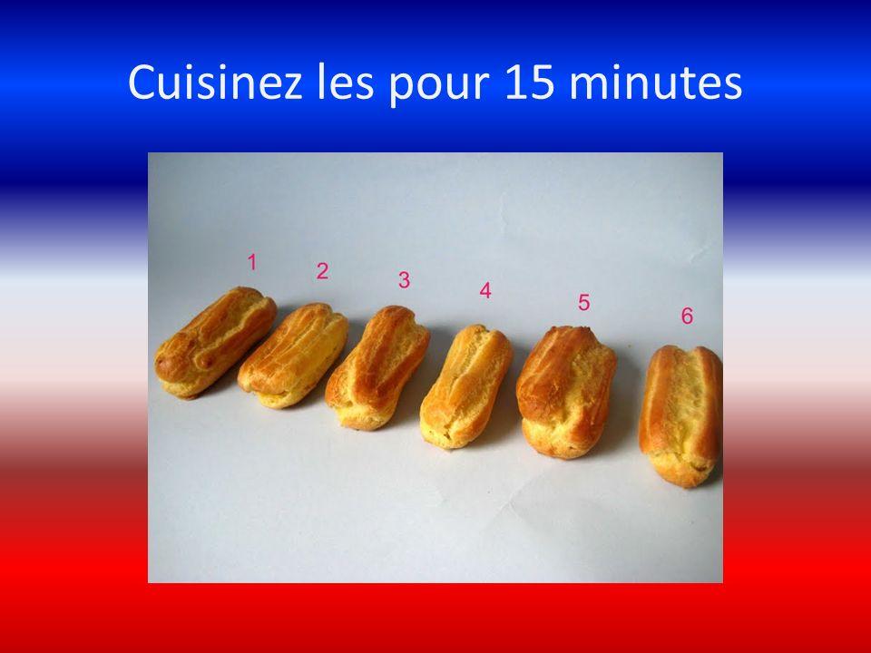 Cuisinez les pour 15 minutes