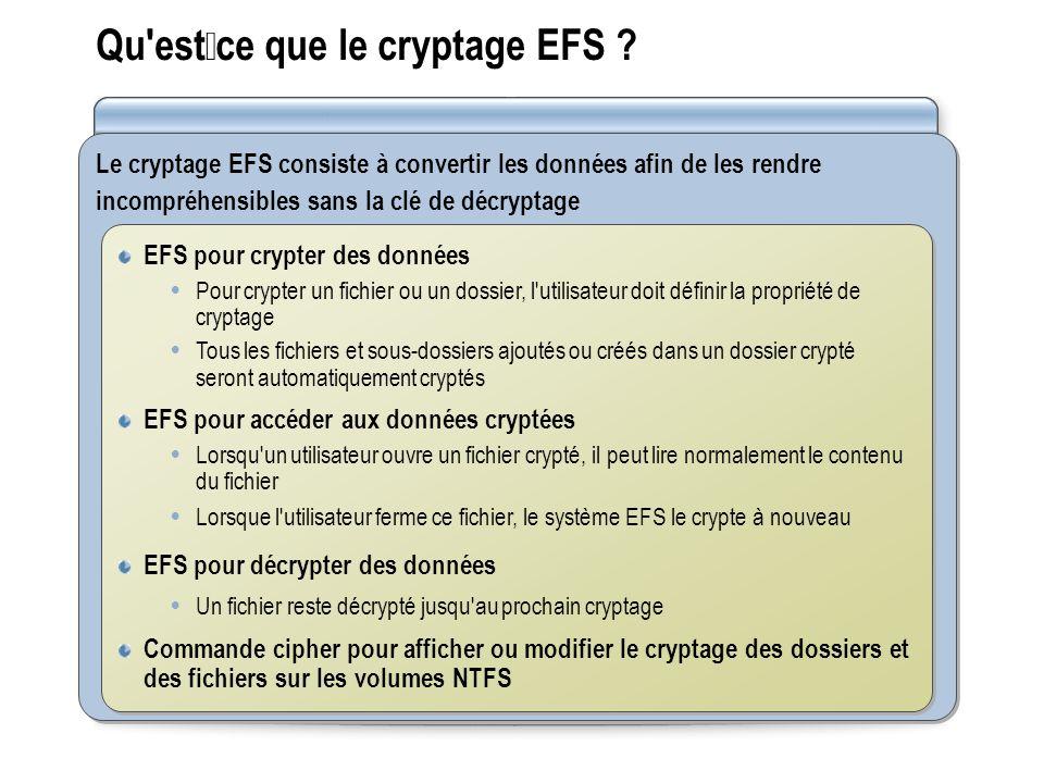 Qu estce que le cryptage EFS