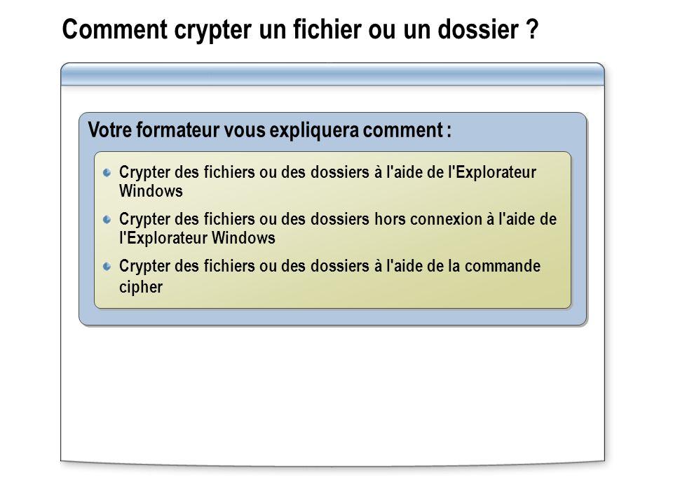 Comment crypter un fichier ou un dossier