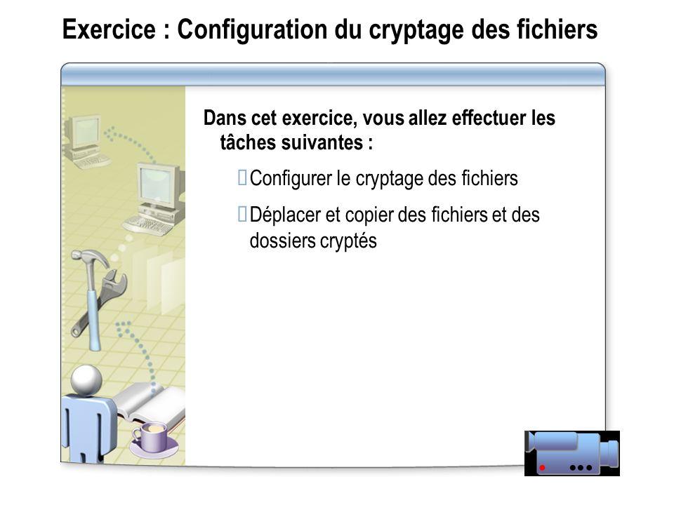 Exercice : Configuration du cryptage des fichiers