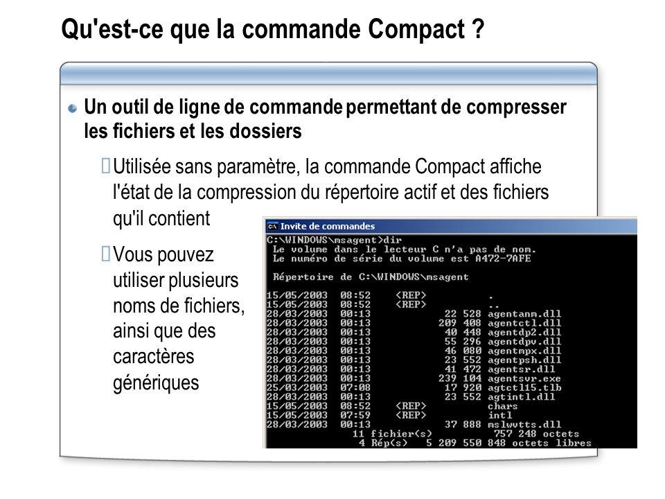 Qu est‑ce que la commande Compact