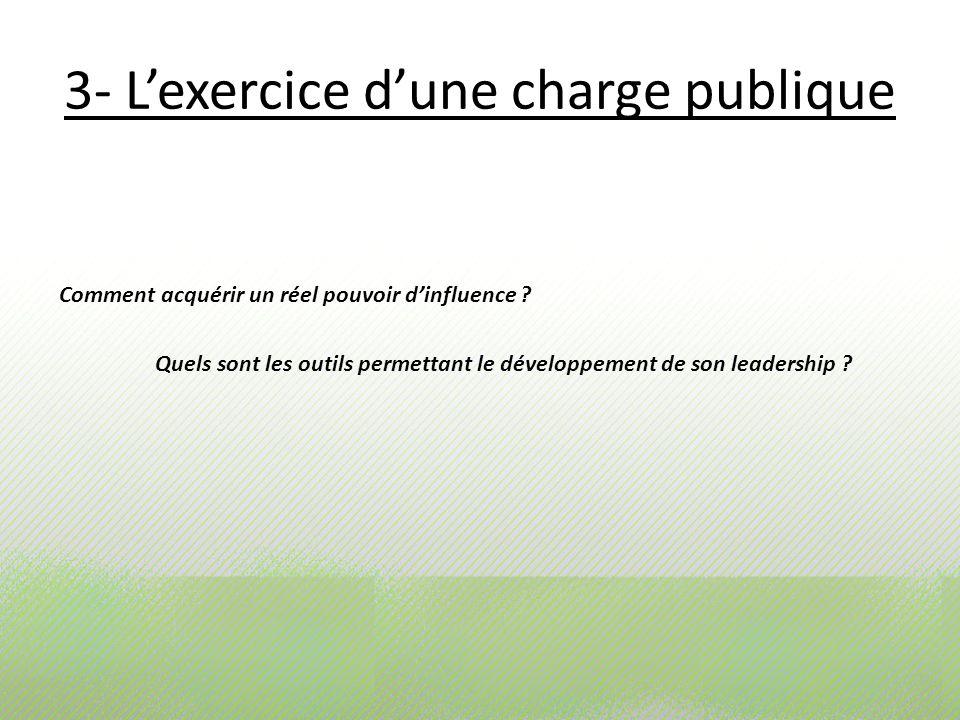 3- L'exercice d'une charge publique
