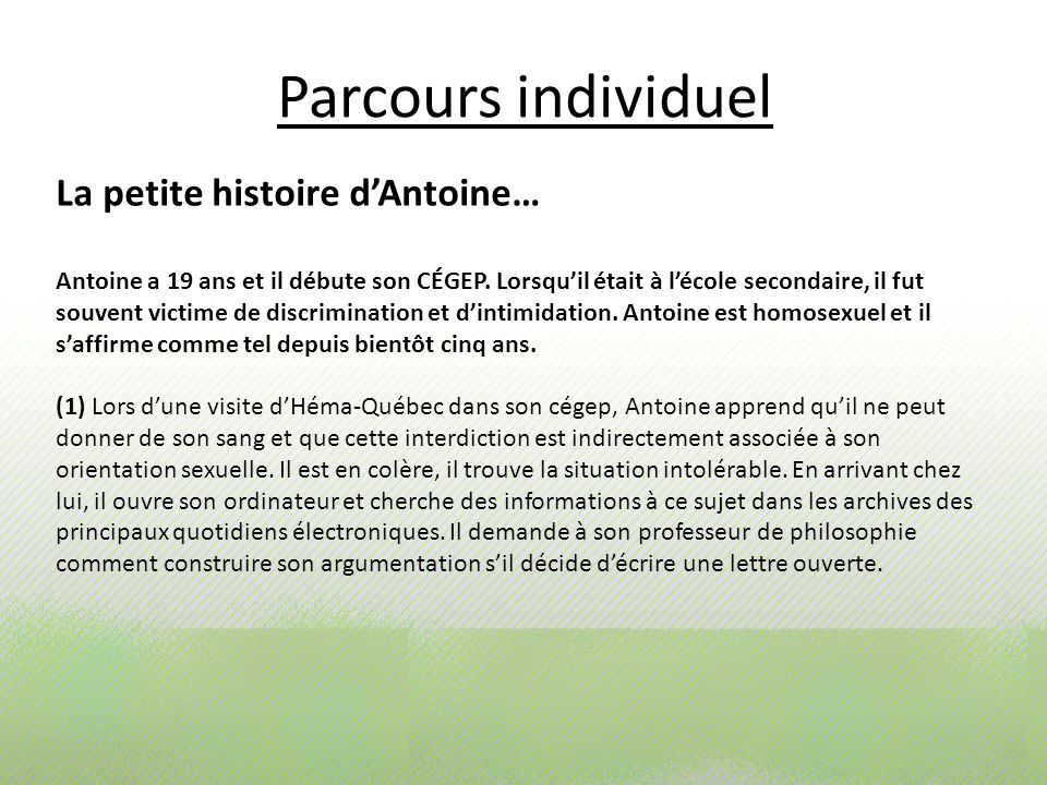 Parcours individuel