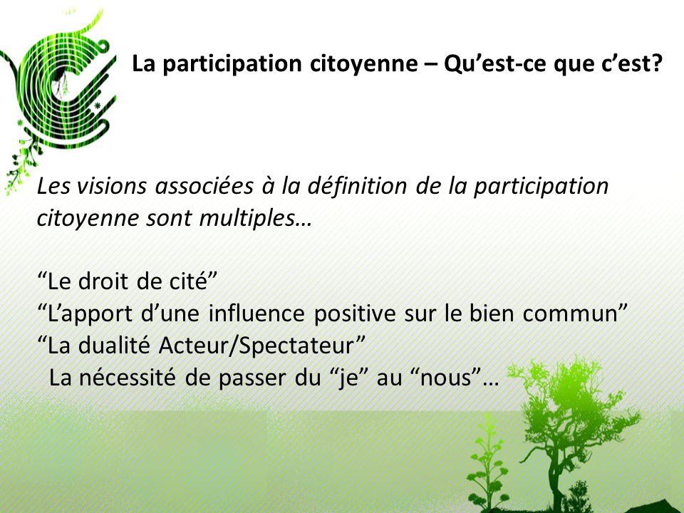 La participation citoyenne – Qu'est-ce que c'est