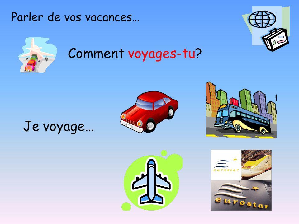 Parler de vos vacances…