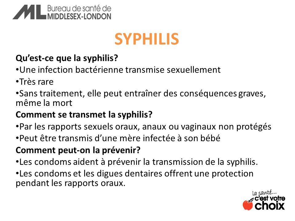 SYPHILIS Qu'est-ce que la syphilis