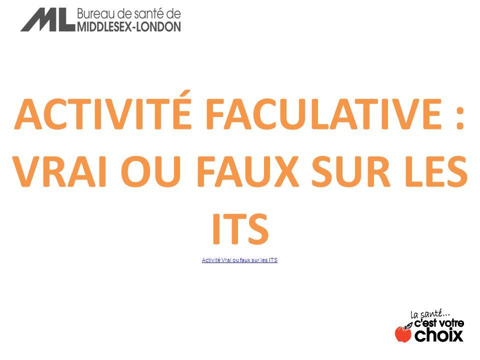Activité Vrai ou faux sur les ITS