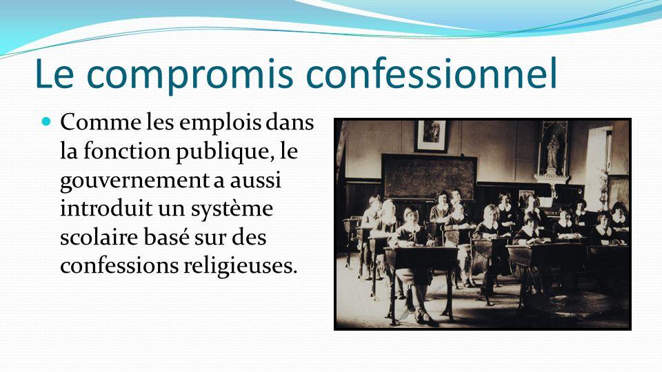 Le compromis confessionnel