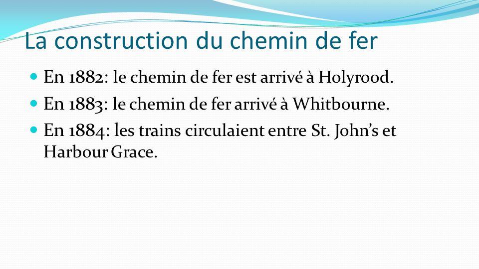 La construction du chemin de fer