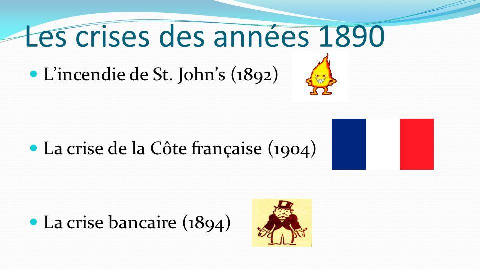 Les crises des années 1890 L'incendie de St. John's (1892)