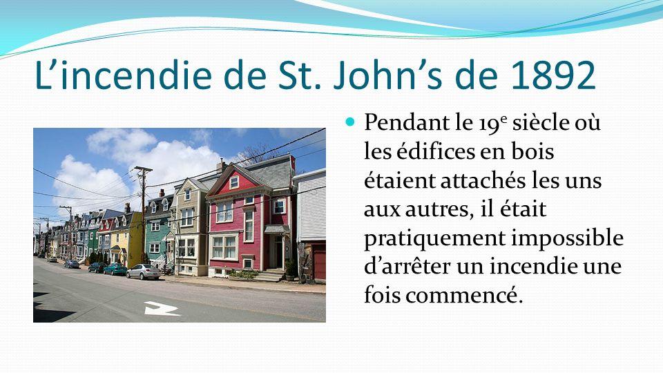 L'incendie de St. John's de 1892