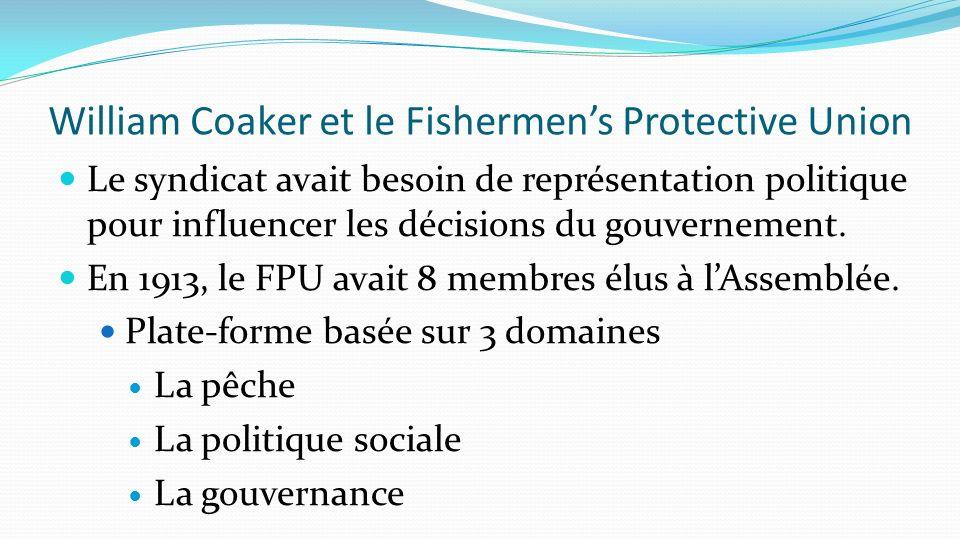 William Coaker et le Fishermen's Protective Union