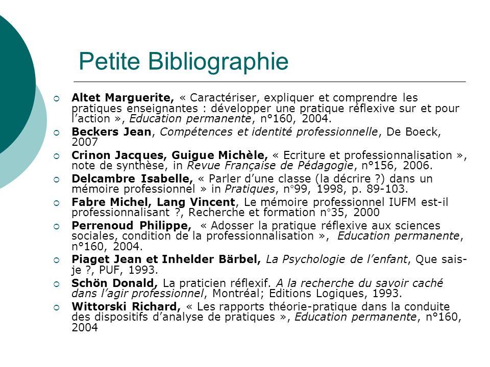 Petite Bibliographie