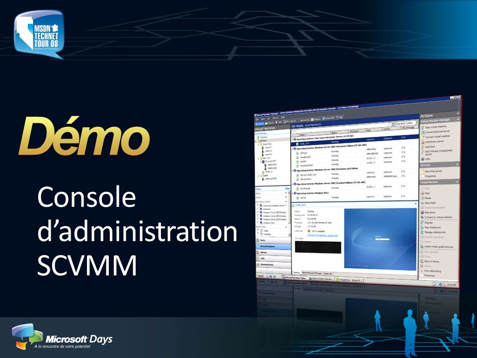 Console d'administration SCVMM
