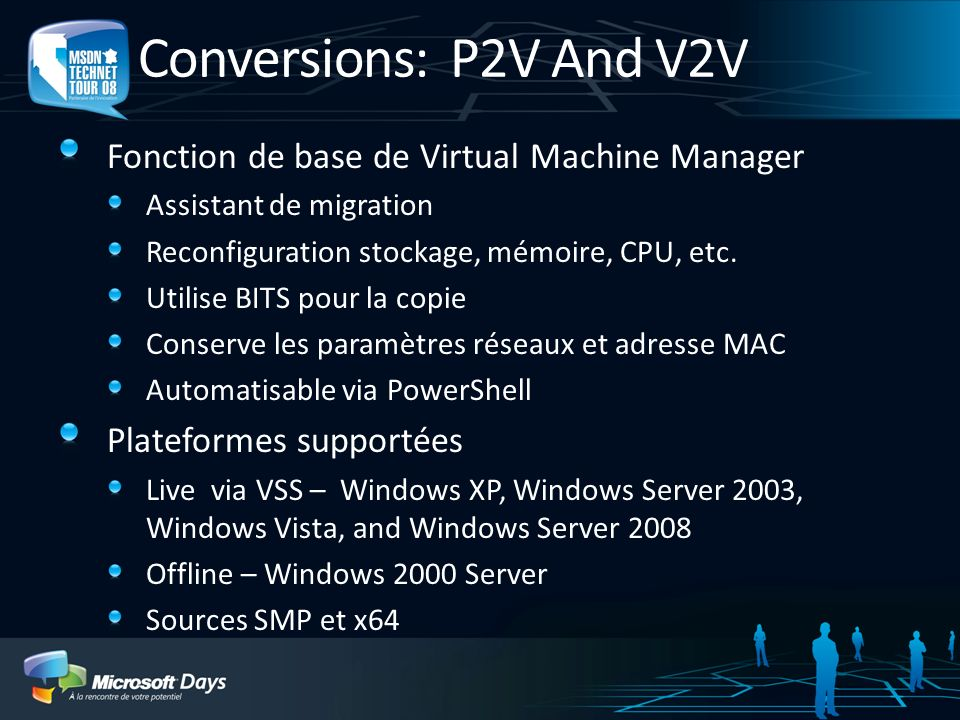 Conversions: P2V And V2V Fonction de base de Virtual Machine Manager