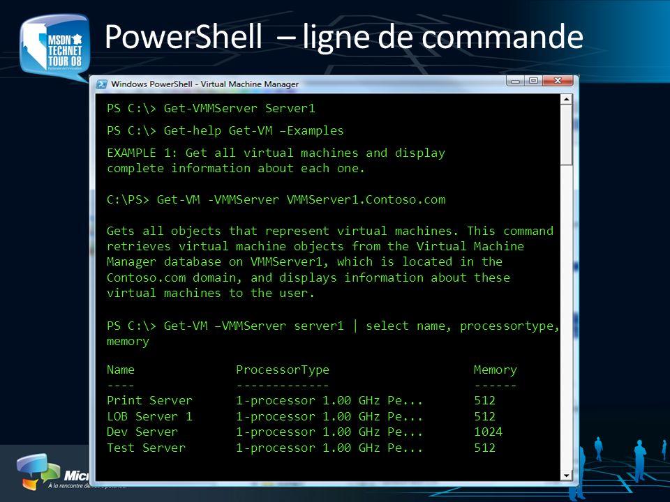 PowerShell – ligne de commande