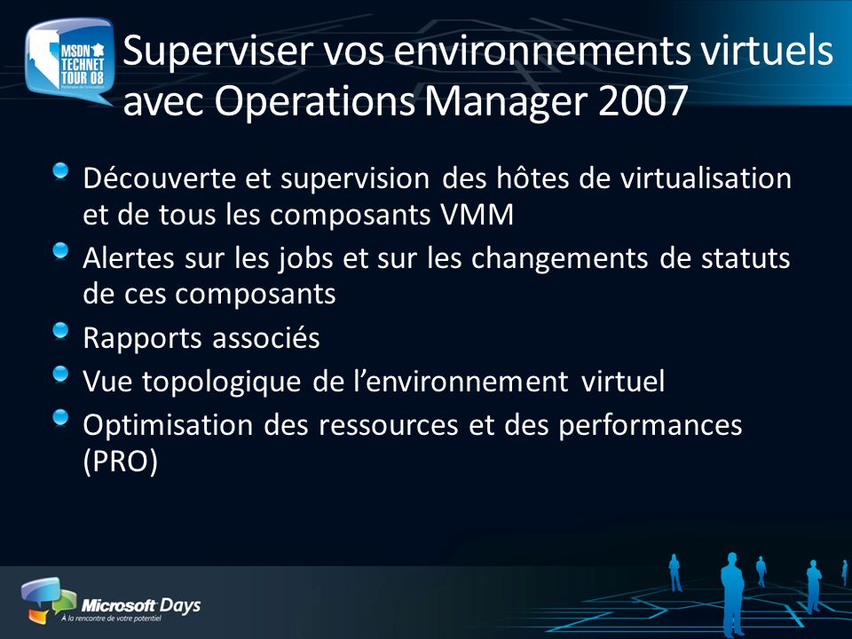 Superviser vos environnements virtuels avec Operations Manager 2007