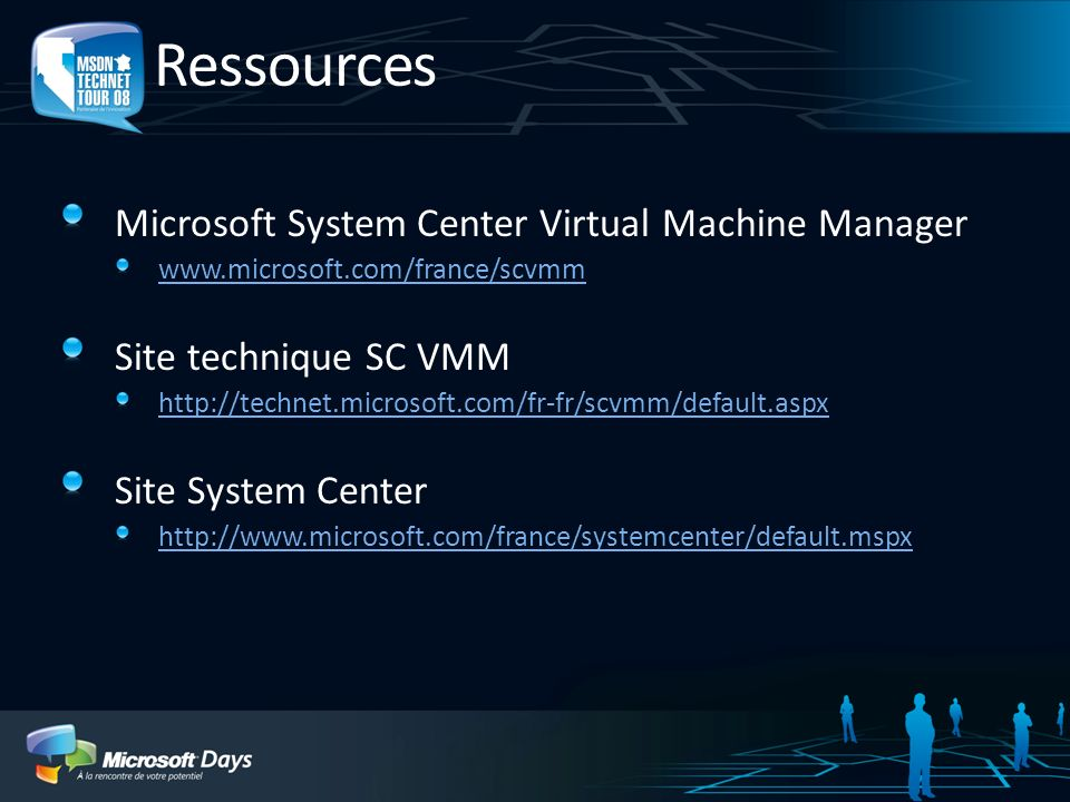 Ressources Microsoft System Center Virtual Machine Manager