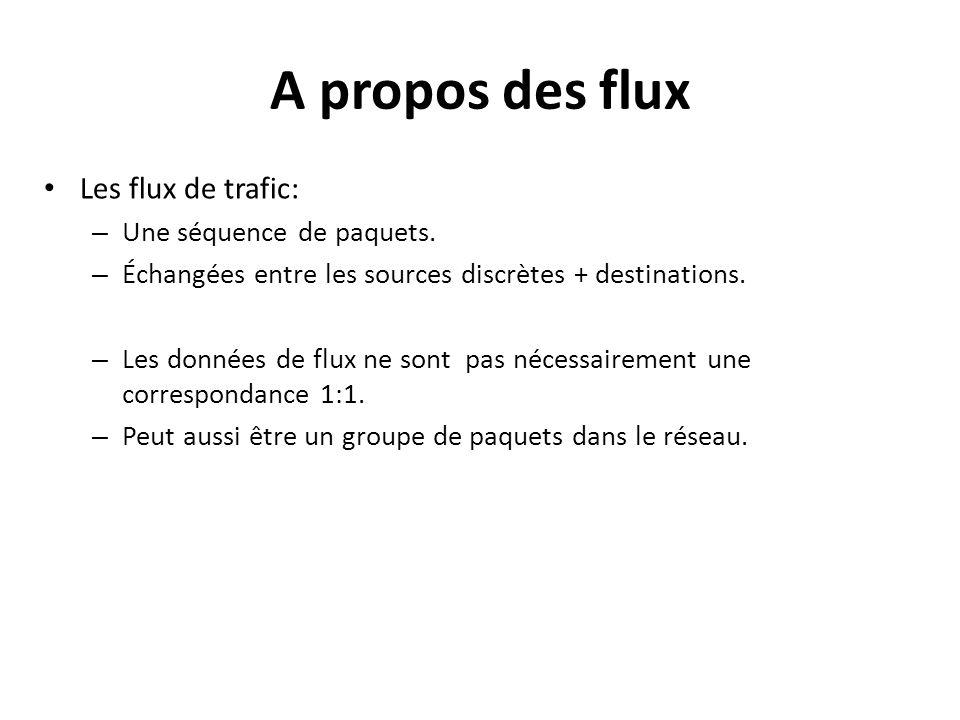 A propos des flux Les flux de trafic: Une séquence de paquets.