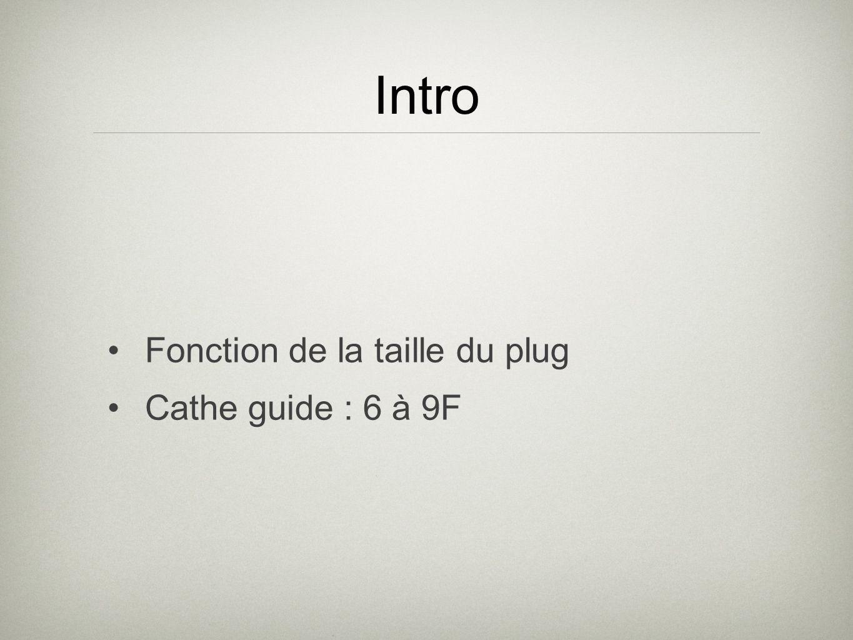 Intro Fonction de la taille du plug Cathe guide : 6 à 9F