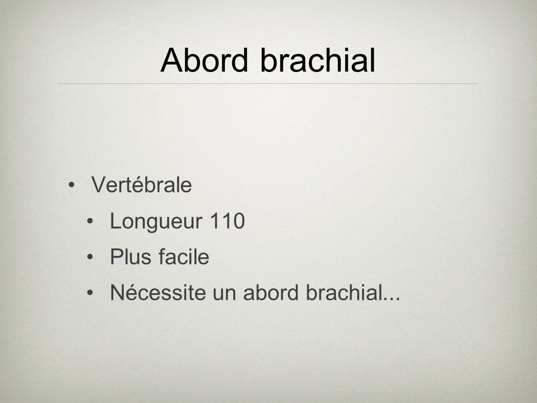 Abord brachial Vertébrale Longueur 110 Plus facile