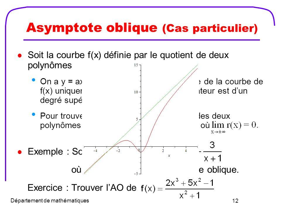 Asymptote oblique (Cas particulier)