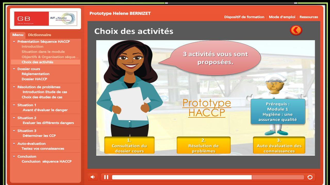 Prototype HACCP Présentation mémoire ingénieur e-formation Hélène Bernizet